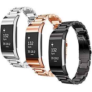 Bande en Silicone Souple Sangle de Remplacement Reglables Sport Accessorie pour Montre Connect/ée Fitbit Charge 2 FatcatBand Bracelet Fitbit Charge 2
