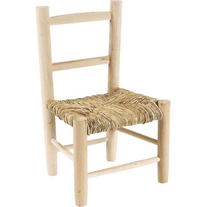 chaise bois enfant