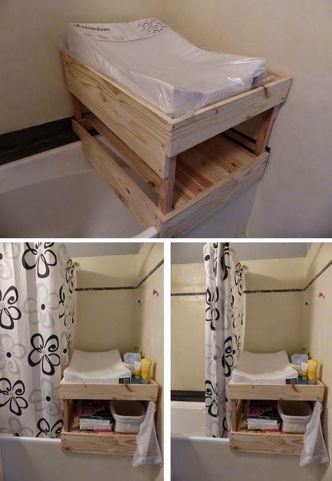 table à langer à poser sur baignoire