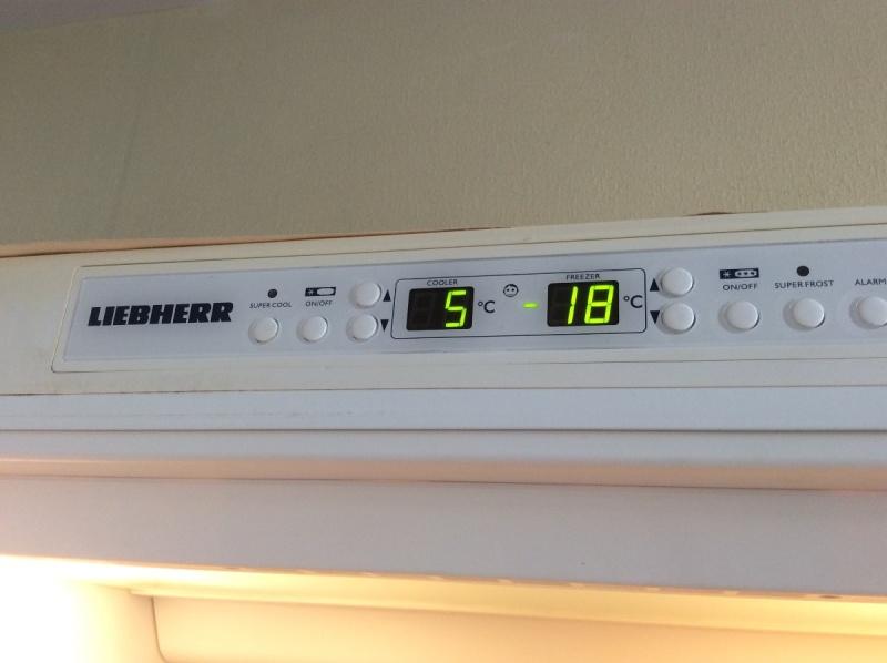 temperature congelateur