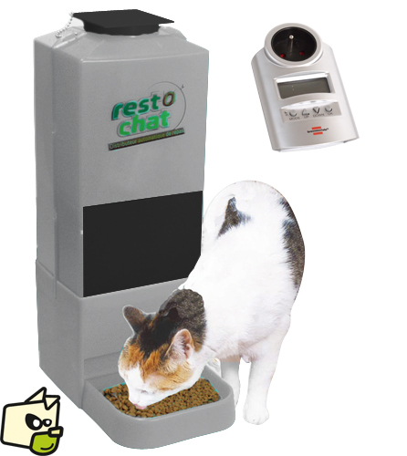 distributeur automatique nourriture chat